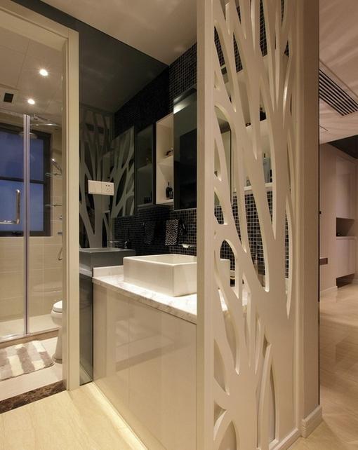 简约家庭洗手间隔断效果图 hao123网址