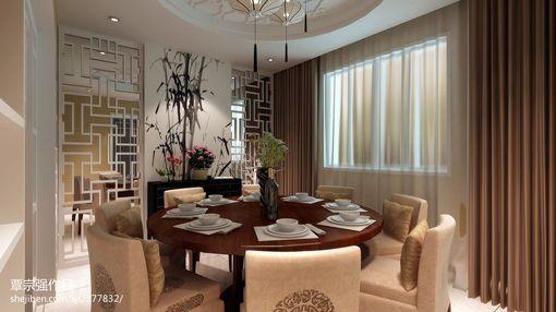 新中式餐厅窗帘效果图欣赏