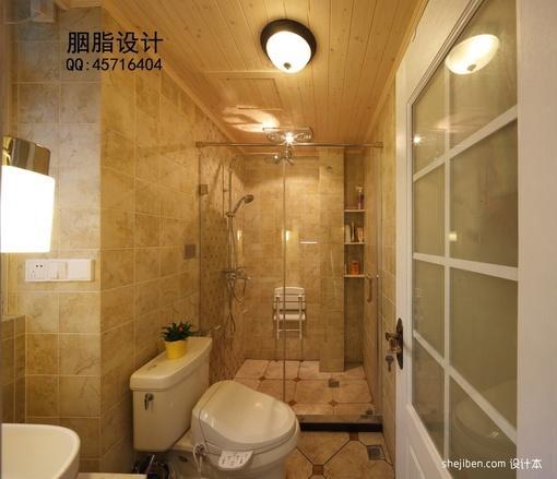 长方形卫生间装修效果图大全2013图片