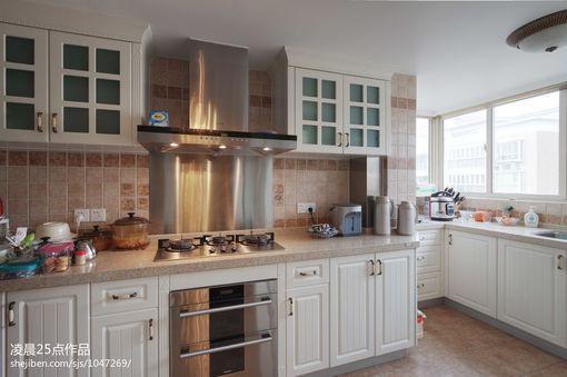 现代美式风格厨房装修效果图 图片 hao123网