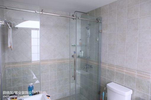 卫生间淋浴室玻璃门隔断效果图欣赏 图片_hao123网址