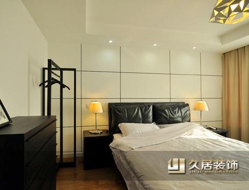 黑白现代风格卧室装修效果图 图片_hao123网