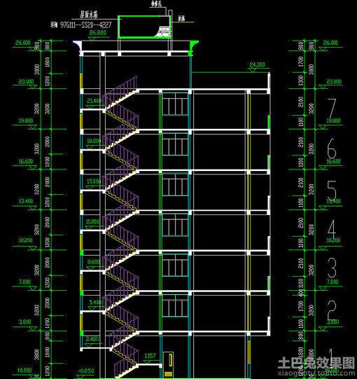 小区 楼梯 剖面图设计 hao123网址导