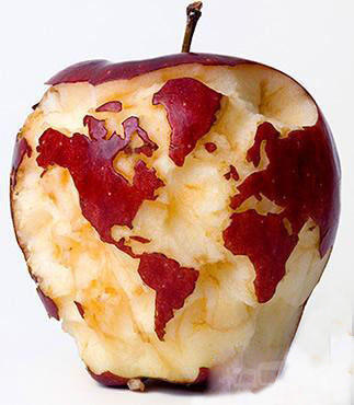 刚啃的苹果,啃的咋样。
