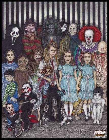一张图集合经典恐怖角色,你认识几个?