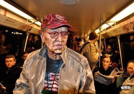 从油画里走出来的老人